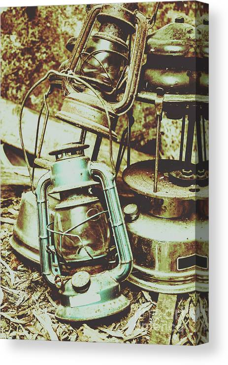 Mining Canvas Print featuring the photograph Antique Oil Lantern Fine Art by Jorgo Photography - Wall Art Gallery