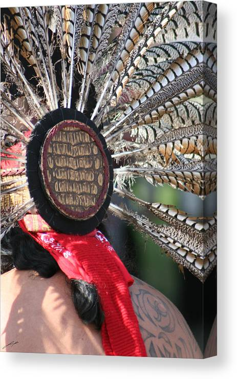 Swan Canvas Print featuring the photograph Aztec Danza 1 by LoungeMode Productions
