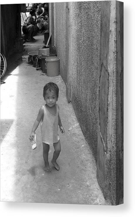 Photographer Canvas Print featuring the photograph Back Street Life 2 by Jez C Self