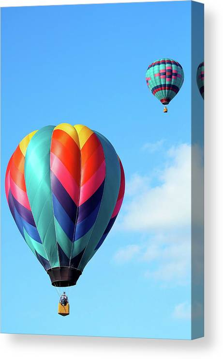 Ballons Canvas Print featuring the photograph Balloons by Linda Cupps