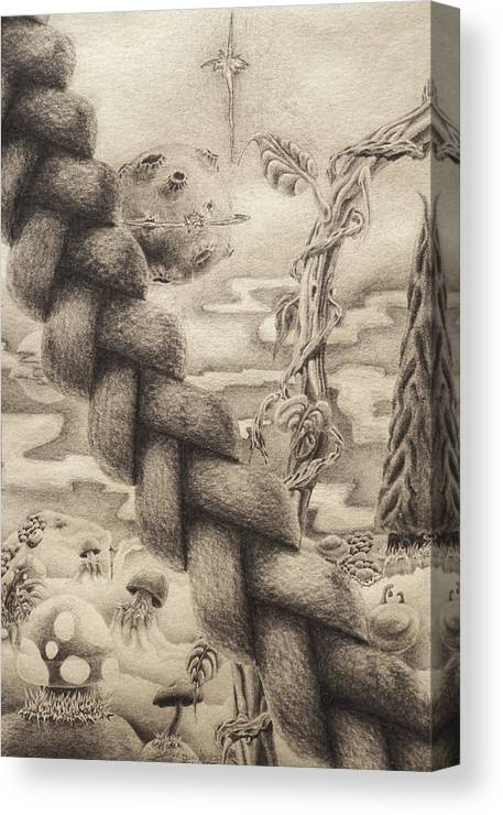Planet Canvas Print featuring the drawing Bardo's Playground by Sean Imler