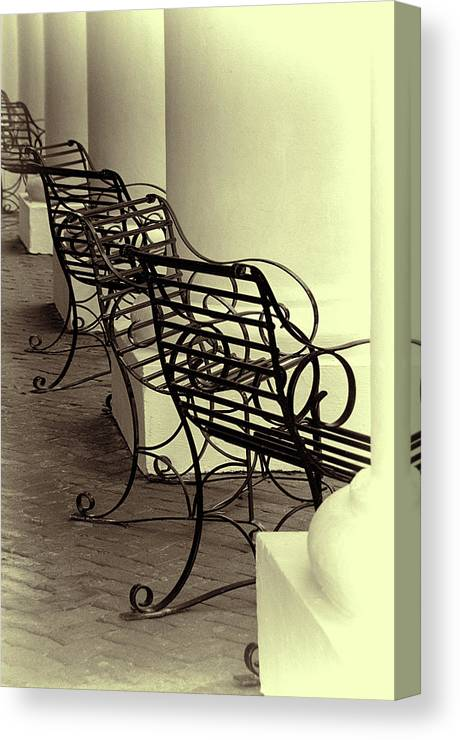 Chairs Canvas Print featuring the photograph Be Seated by Mitch Spence