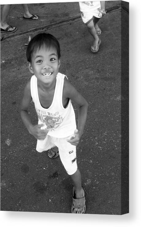 Photographer Canvas Print featuring the photograph Being Kids 5 by Jez C Self