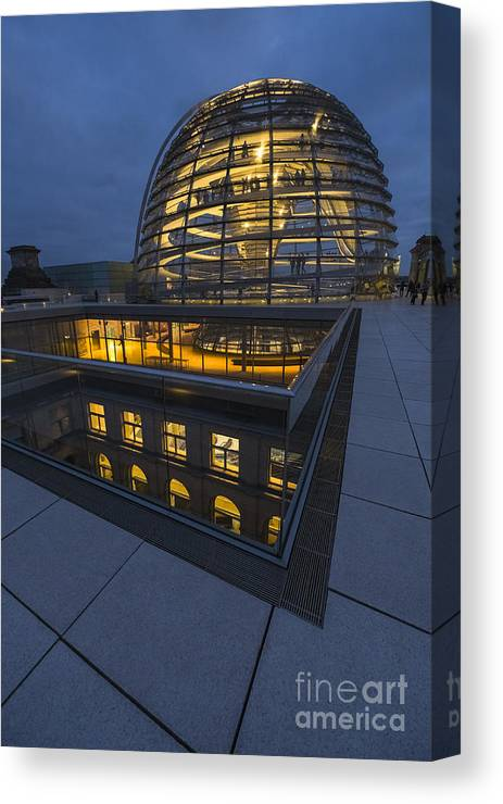 Berlin Canvas Print featuring the photograph Reichstag Dome Terrace #1, Berlin, Germany by Philip Preston