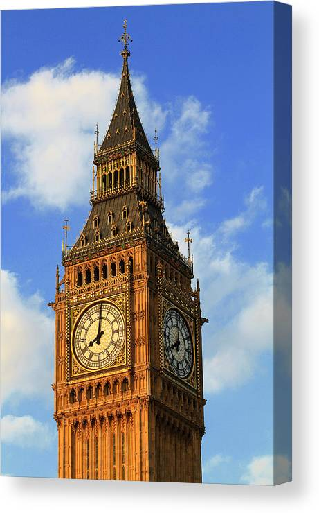 Big Ben Canvas Print featuring the photograph Big Ben by Adam Sworszt