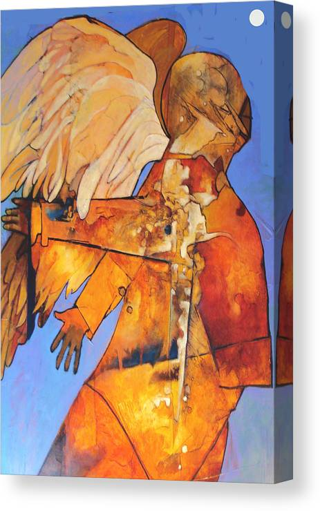 Figure Canvas Print featuring the painting Broken Wings by Dale Witherow