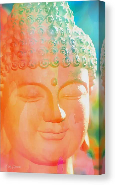 Cindy Canvas Print featuring the photograph Buddah Glow by Cindy Greenstein