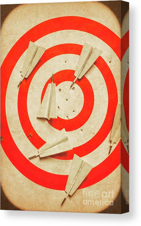 Dartboard Canvas Print featuring the photograph Business Target Practice by Jorgo Photography - Wall Art Gallery