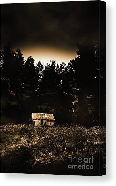 Woods Canvas Print featuring the photograph Cabin In The Woodlands by Jorgo Photography - Wall Art Gallery