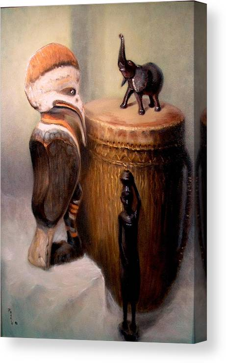 Realism Canvas Print featuring the painting Cassowary by Donelli DiMaria
