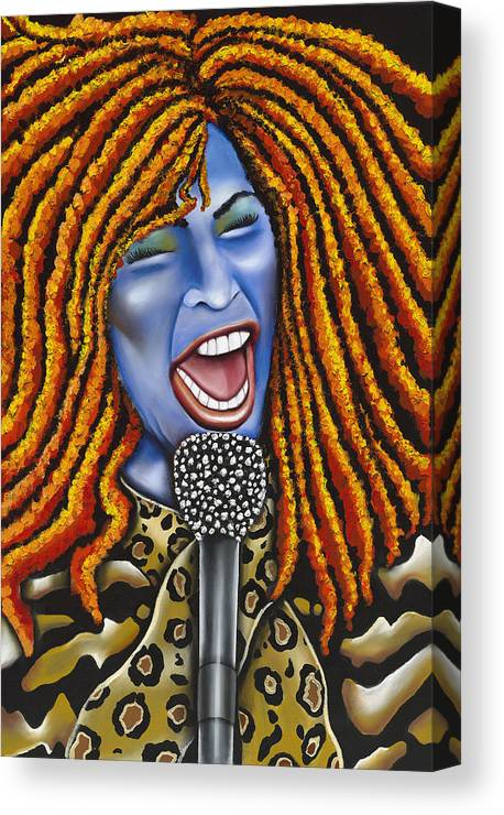 Portrait Canvas Print featuring the painting Chaka by Nannette Harris