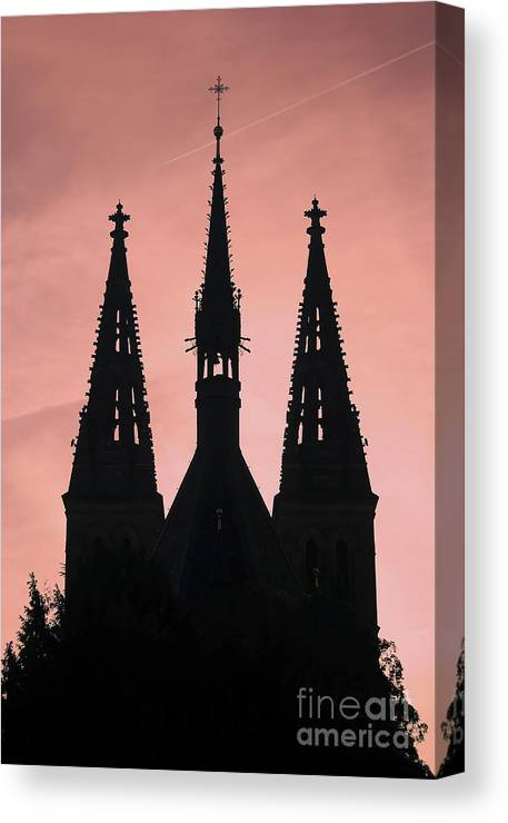 Church Canvas Print featuring the photograph Chapter Church Of St Peter And Paul by Michal Boubin
