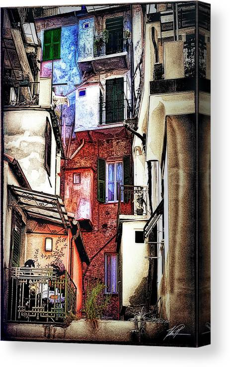 Cinque Terre Canvas Print featuring the photograph Cinque Terre All'aperto by Thomas Patterson