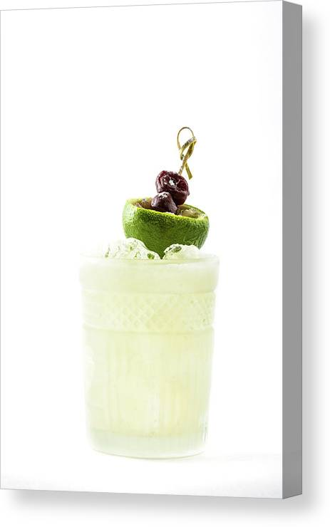 Alcohol Canvas Print featuring the photograph Cocktail With Lime And Berries by Oleg Yermolov