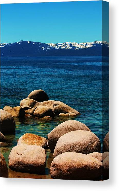 Water Canvas Print featuring the photograph Colors Of Sand Harbor by Russell Barton