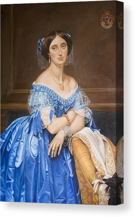 Ingres Canvas Print featuring the painting Copy After Ingres by Rob De Vries