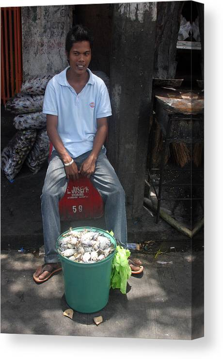 Photographer Canvas Print featuring the photograph Crabbing by Jez C Self