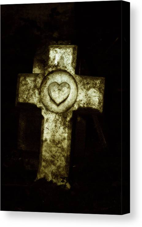 Cross Canvas Print featuring the photograph Cross My Heart by Carl Perry