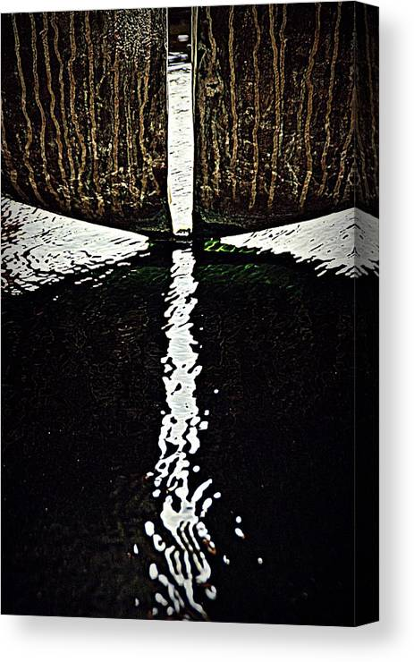 Abstract Canvas Print featuring the photograph Cross Wet Ripple by Robert P Meyer Jr