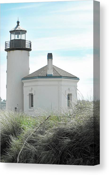 Lighthouse Canvas Print featuring the photograph Coquille Lighthouse by Doty Johnson
