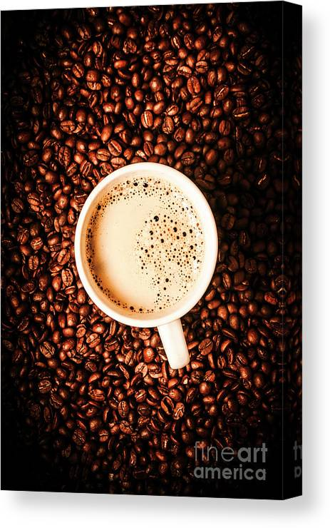 Coffee Canvas Print featuring the photograph Cup And The Coffee Store by Jorgo Photography - Wall Art Gallery