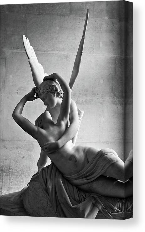 Cupid Canvas Print featuring the photograph Cupid And Pysche by Daniel Koglin