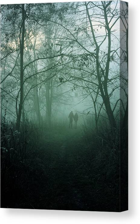 Dark Canvas Print featuring the photograph Dark Paths by Cambion Art