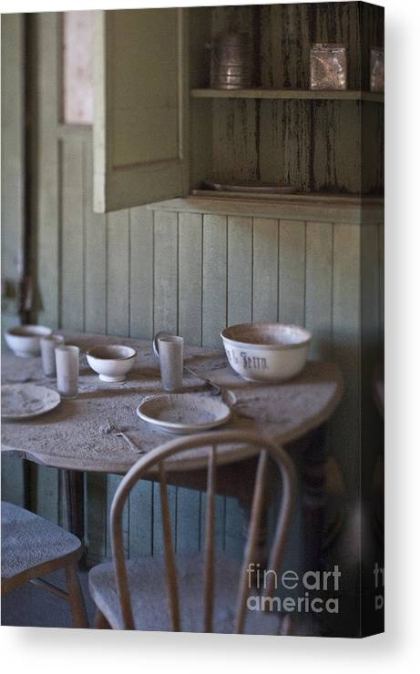 Abandoned Canvas Print Featuring The Photograph Dining Table In Home By Eddy Joaquim
