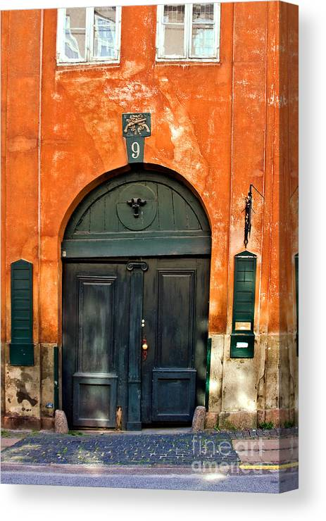 Copenhagen Canvas Print featuring the photograph Door by Joerg Lingnau