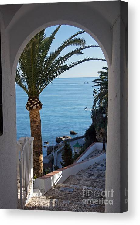 Spain Canvas Print featuring the photograph Down To The Beach by Rod Jones