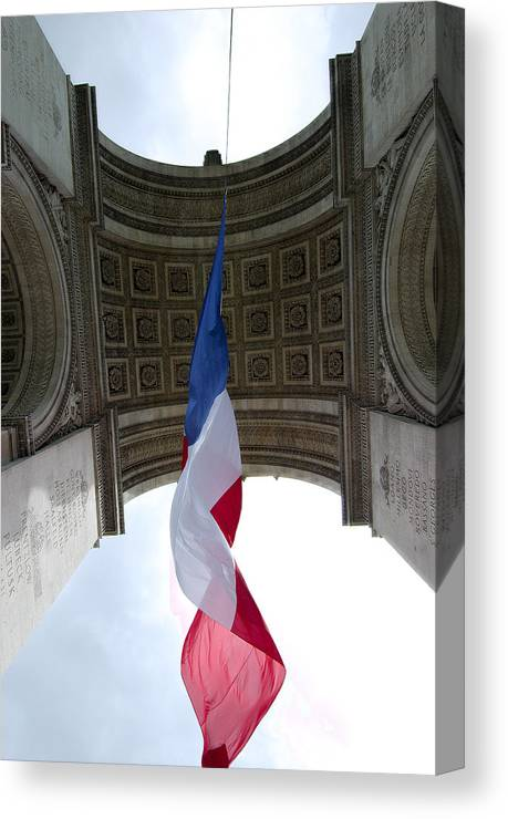 French Canvas Print featuring the photograph Drapeau Francais by Robert Ponzoni