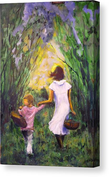 Trees Canvas Print featuring the painting El Paseo by Lizzy Forrester