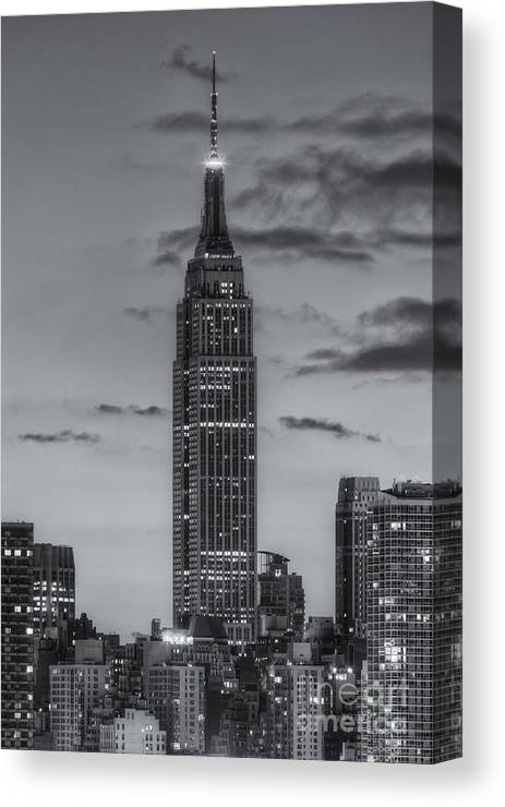 Clarence Holmes Canvas Print featuring the photograph Empire State Building Morning Twilight Iv by Clarence Holmes