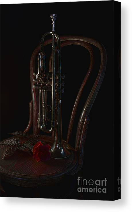 Trumpet Canvas Print featuring the photograph Encore by The Stone Age