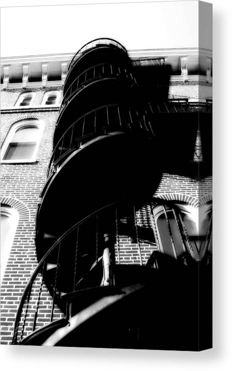 Fire Escape Canvas Print featuring the photograph Escape by Carl Perry