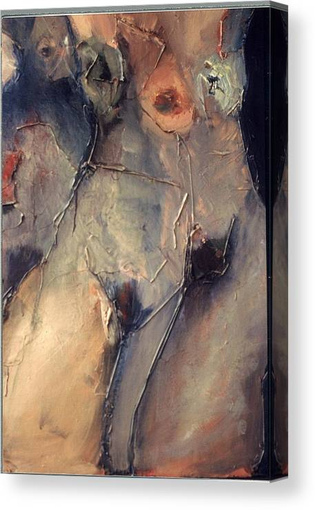 Nudes Canvas Print featuring the painting Femme 3 by Angela Dickerson