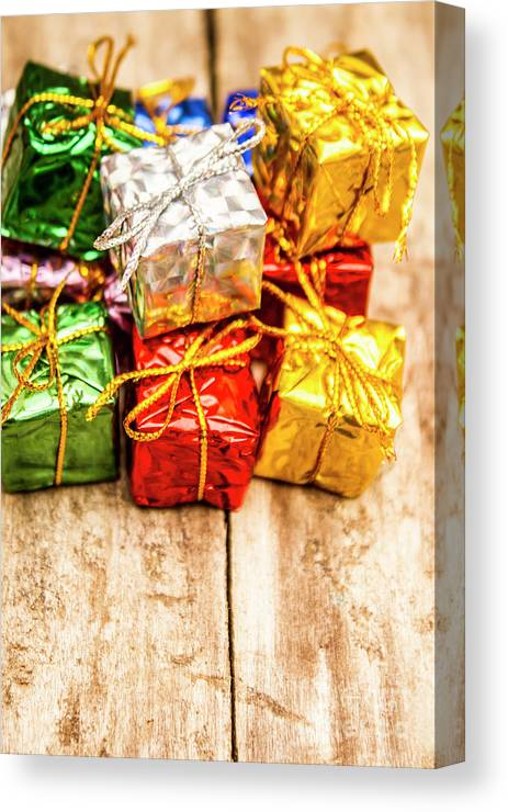 Gift Canvas Print featuring the photograph Festive Greeting Gifts by Jorgo Photography - Wall Art Gallery