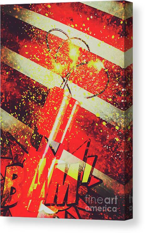 Meltdown Canvas Print featuring the digital art Financial Meltdown Coming Soon by Jorgo Photography - Wall Art Gallery