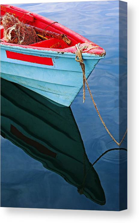 Fishing Canvas Print featuring the photograph Fishing Boat-1-st Lucia by Chester Williams