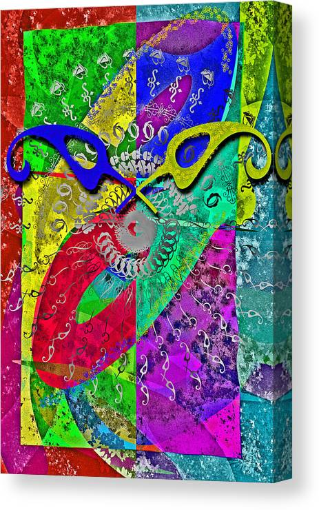 Font Canvas Print featuring the digital art Fontart Series Cosmic Attraction by Edwin Loyola