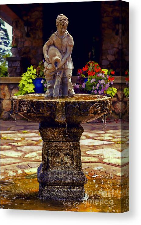 Fountain Canvas Print featuring the photograph From The Fountain by Joe Geraci