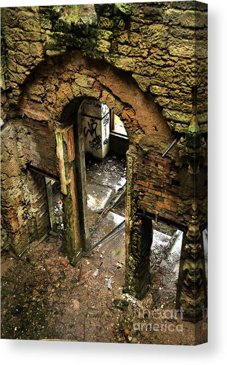 Derelict Canvas Print featuring the photograph Gateway To Madness by Dominique De Leeuw