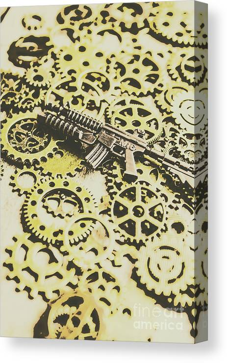Army Canvas Print featuring the photograph Gears Of War by Jorgo Photography - Wall Art Gallery