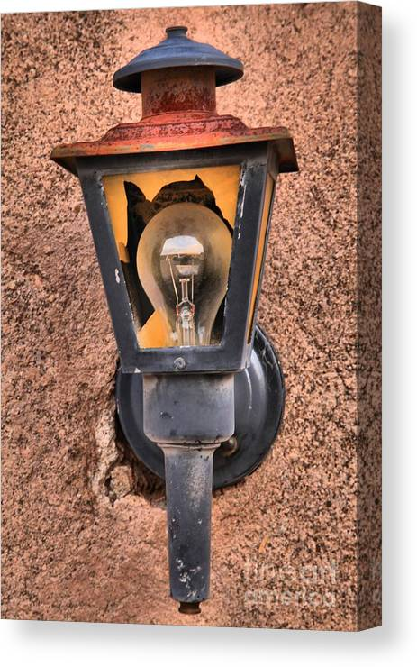 Ghost Town Lamp Canvas Print featuring the photograph Ghost Town Lamp by Adam Jewell