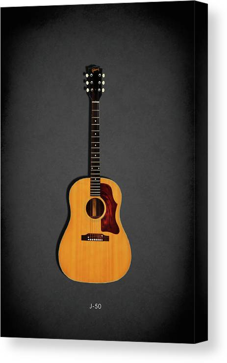 Gibson J-50 Canvas Print featuring the photograph Gibson J-50 1967 by Mark Rogan
