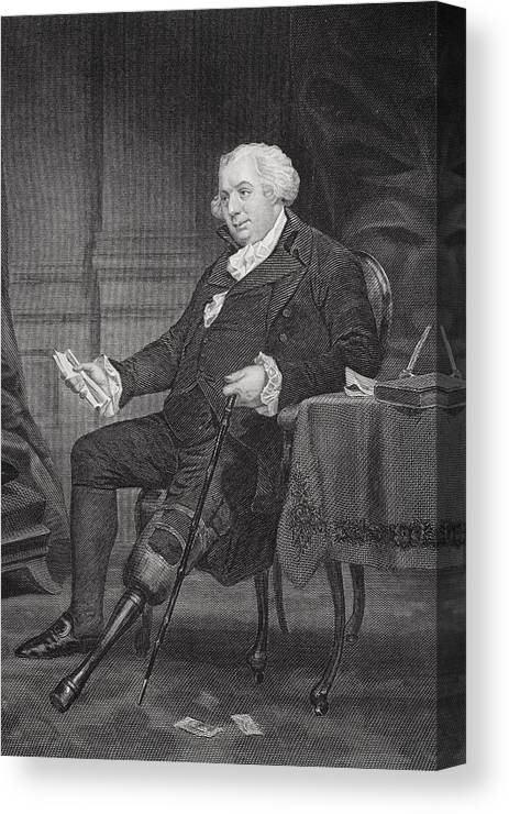 American Canvas Print featuring the drawing Gouverneur Morris 1752-1816. American by Vintage Design Pics