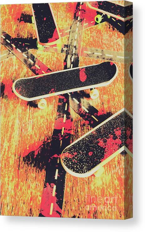 Art Canvas Print featuring the photograph Grunge Skate Art by Jorgo Photography - Wall Art Gallery