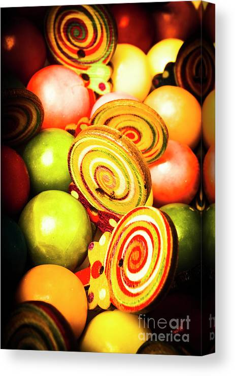 Gumballs Canvas Print featuring the photograph Gumdrops And Candy Pops by Jorgo Photography - Wall Art Gallery