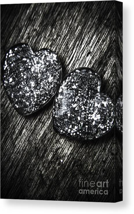 Hearts Canvas Print featuring the photograph Heart Glass Glitters by Jorgo Photography - Wall Art Gallery
