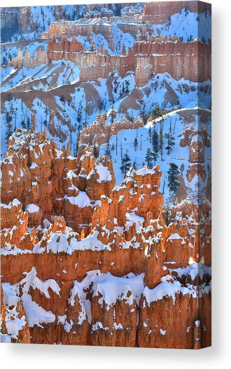 Bryce Canyon National Park Canvas Print featuring the photograph Hoodoo Fortress by Ray Mathis